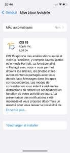 iOS 15 : la release candidate est disponible