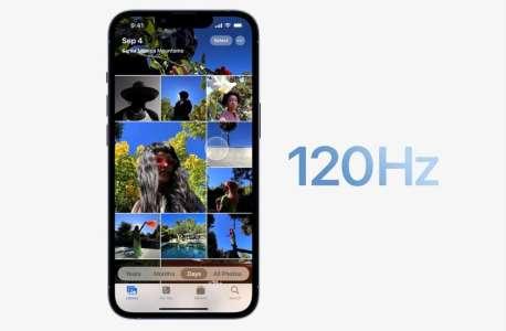 iPhone 13 Pro : Apple dit que les applications peuvent profiter de ProMotion et l'affichage 120 Hz