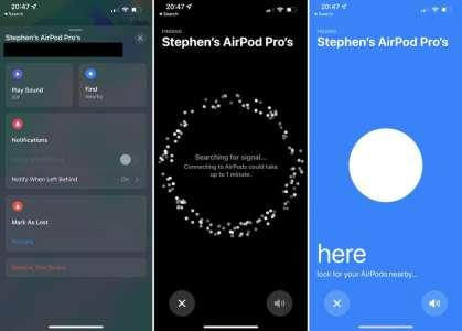Les AirPods Pro et Max ajoutent le support du réseau Localiser d'Apple