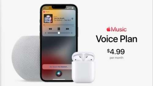[Keynote] Apple Music : un nouvel abonnement à 4,99 euros/mois et le pilotage exclusivement à la voix (via Siri)