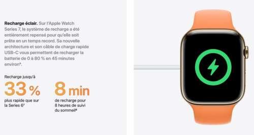 Apple Watch Series 7 : les chargeurs compatibles pour la charge rapide