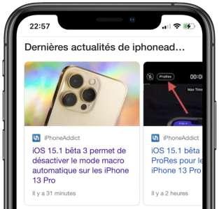 Safari iOS 15 : un bug désactive les liens AMP sur Google