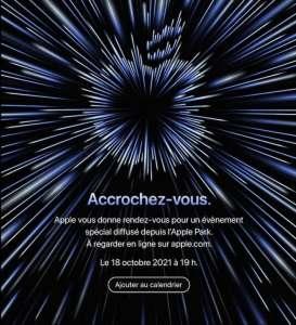 Apple annonce une keynote pour le 18 octobre : MacBook Pro M1X attendu !