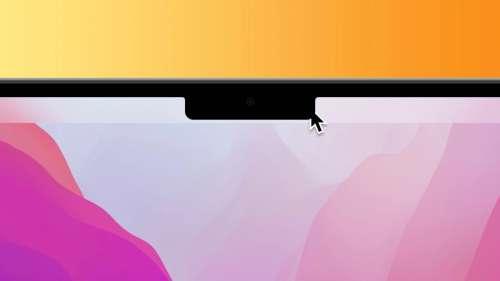 MacBook Pro : le pointeur de la souris passe derrière l'encoche