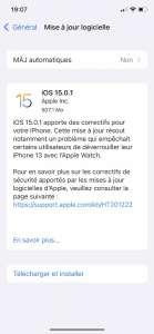 iOS 15.0.1 est disponible pour le bug de déverrouillage avec l'Apple Watch