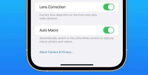 iOS 15.1 bêta 3 permet de désactiver le mode macro automatique sur les iPhone 13 Pro