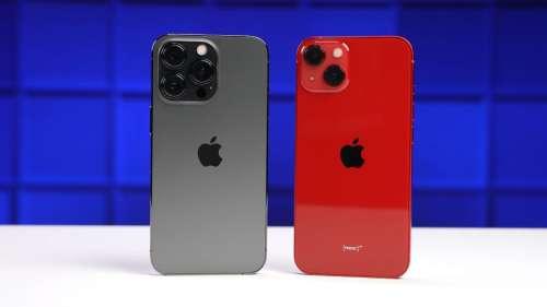 Autonomie : l'iPhone 13 Pro fait mieux que l'iPhone 13, malgré une batterie plus petite