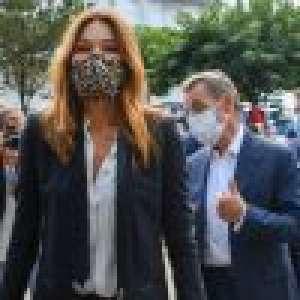 Carla et Nicolas Sarkozy avec leur fille Giulia pour un mariage à La Baule