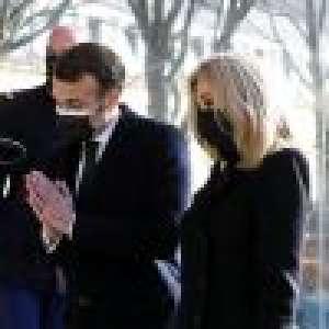 Emmanuel et Brigitte Macron émus et soudés pour l'hommage aux victimes du terrorisme