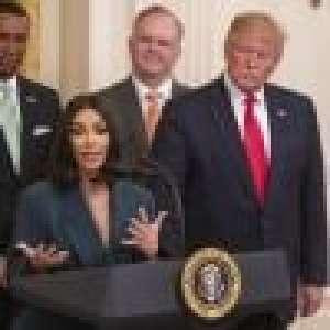 Kim Kardashian à la Maison Blanche : look sobre face à Donald Trump