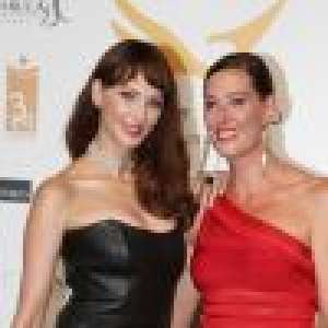 Cannes : Frédérique Bel canon en cuir avec sa soeur, Marcelo Viera en amoureux