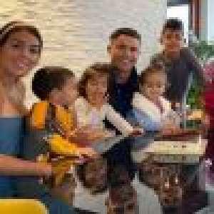 Cristiano Ronaldo : Sportif en confinement, ses enfants lui servent d'haltères