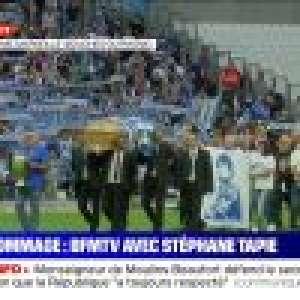 Hommage à Bernard Tapie au Stade Vélodrome : sa veuve Dominique et ses enfants émus face aux Marseillais
