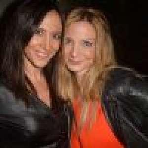 Fabienne Carat divine en cuir au côté de sa soeur pour soutenir Mika