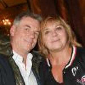 Michèle Bernier, toujours très proche de son ex Bruno Gaccio, père de ses deux enfants :