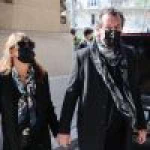 Obsèques d'Yves Rénier : Jean-Luc Reichmann accablé, Véronique Genest et Mathilde Seigner présentes