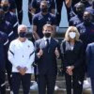 Brigitte et Emmanuel Macron à Clairefontaine : avant l'Euro 2021, joyeuses retrouvailles avec les Bleus