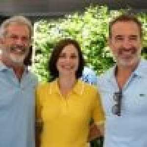 Jean Dujardin et sa femme Nathalie Péchalat complices avec Mel Gibson à Roland-Garros !
