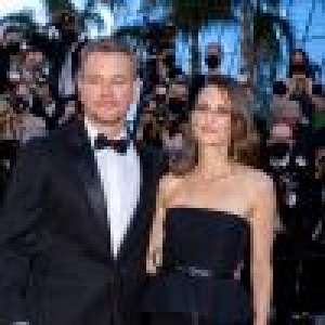 Camille Cottin à Cannes : renversante au bras de Matt Damon, en robe bustier