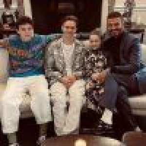 David Beckham : En famille pour le défilé de sa femme Victoria
