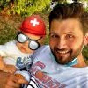 Christophe Beaugrand : Premiers pas (et première chute) de son fils Valentin