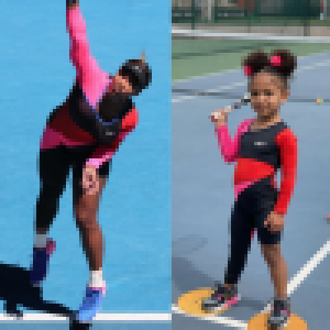 Serena Williams imitée par sa fille de 3 ans, qui porte une de ses tenues phares
