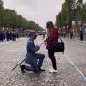 14 juillet : Une demande en mariage unique, Christophe Beaugrand ému