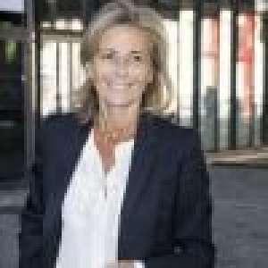 Claire Chazal, seule pour élever son fils François :
