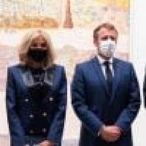 Brigitte et Emmanuel Macron réunis à la Fondation Louis Vuitton pour une grande inauguration