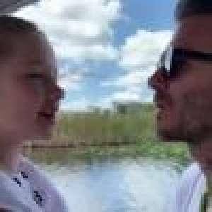 David Beckham : Doux bisou sur la bouche avec Harper, pour une grande découverte