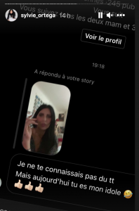 Sylvie Ortega poste les messages de soutien qu'elle reçoit des internautes