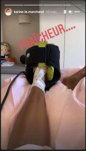 PHOTOS Karine Le Marchand opérée: elle dévoile des clichés de son pied