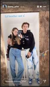 PHOTO Emma Smet: la fille de David Hallyday dévoile un rare cliché de son petit frère Cameron