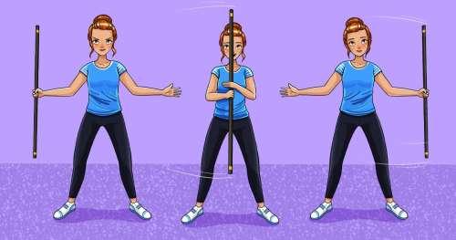 15 Exercices simples avec le manche à balai pour faire du sport à la maison (nouvelle sélection)