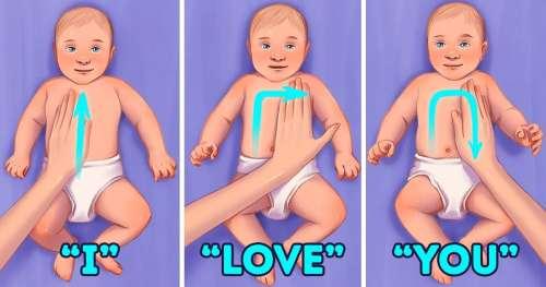 11 Manières de masser un bébé pour stimuler son développement