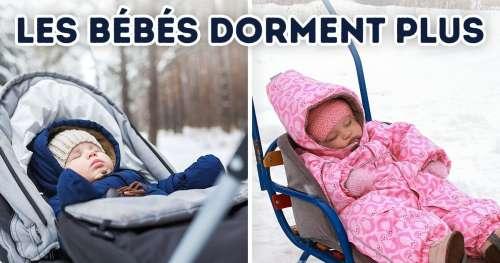 Pourquoi les parents vivant dans les pays froids laissent leurs enfants faire la sieste en plein air