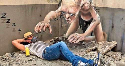 17 Chefs-d'œuvre d'un artiste du graffiti qui ont l'air de prendre vie et sortir des murs