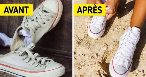 10 Astuces simples pour raviver le blanc de tes baskets avec des produits de la vie courante