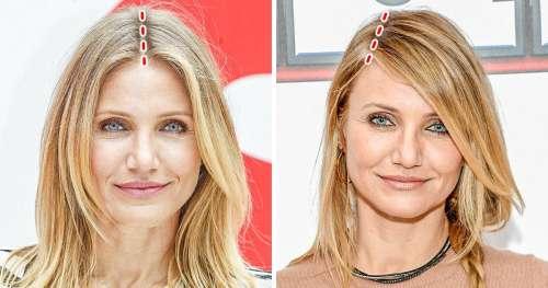 15+ Photos de célébrités prouvent que l'emplacement de la raie dans les cheveux peut changer votre apparence