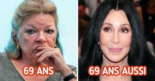 Nous avons comparé 15 duos de célébrités françaises et étrangères du même âge
