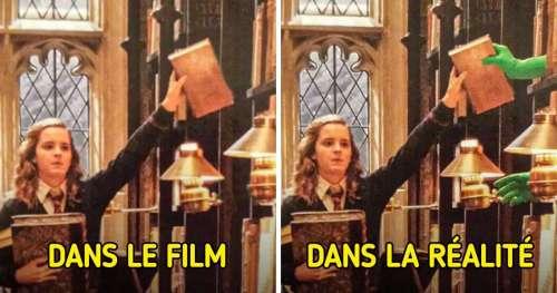 """16 Moments dans """"Harry Potter"""" vus derrière la caméra et qui nous montrent les coulisses des effets spéciaux"""