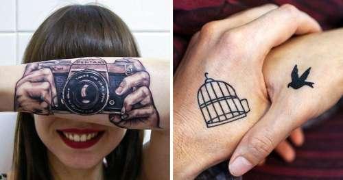 15+ Tatouages qui montrent à quel point tu peux être créatif avec de l'encre