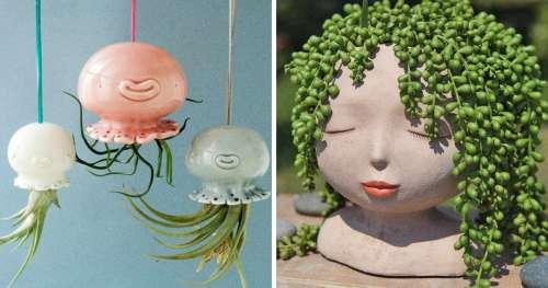 14 Pots de fleurs originaux qui donneront à tes plantes le plus bel effet