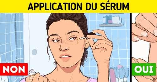 Voici l'ordre dans lequel tu dois appliquer tes produits pour le visage