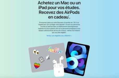 Back To School 2021 : Apple offre des AirPods aux étudiants