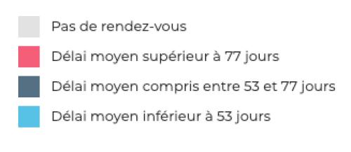 Carte de France des déserts médicaux en ophtalmologie