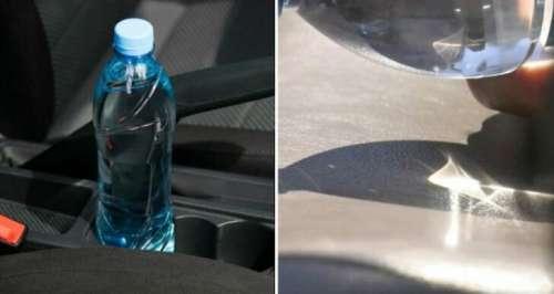 Les pompiers affirment qu'il ne faut plus laisser une bouteille d'eau dans la voiture