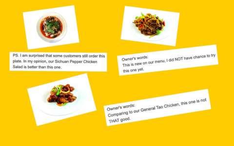 """""""Pas terrible"""". À Montréal, le menu trop honnête d'un restaurant chinois régale les internautesCourrier international 19/01/2021 - 12:28"""