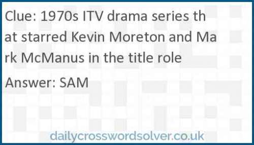 1970s ITV drama series that starred Kevin Moreton and Mark McManus in the title role crossword answer