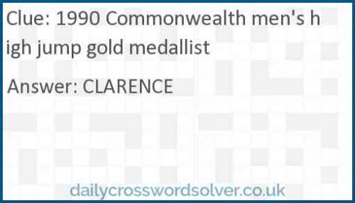 1990 Commonwealth men's high jump gold medallist crossword answer